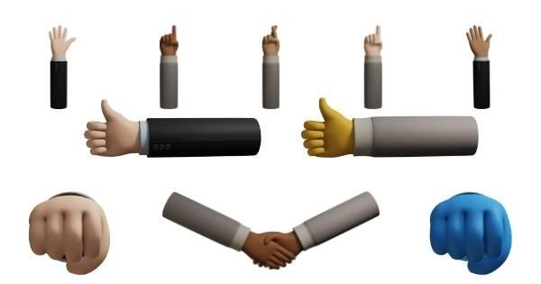 Canva Suchbegriffe 3D Elemente - 3D Handz