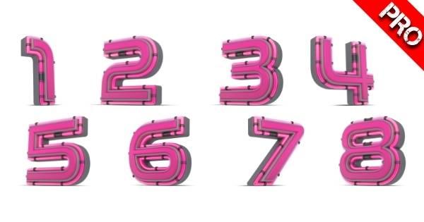 Canva Suchbegriffe 3D Elemente - 3D Pink Number